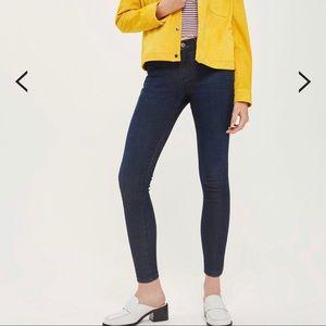 Petite Topshop indigo Leigh jeans size 24